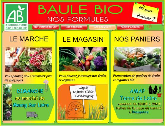 Baule Bio, agriculture biologique à Baule dans le Loiret en Val de Loire