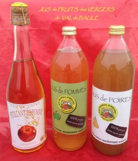 Jus de Pomme du Val de Loire par les vergers du Val de Baule