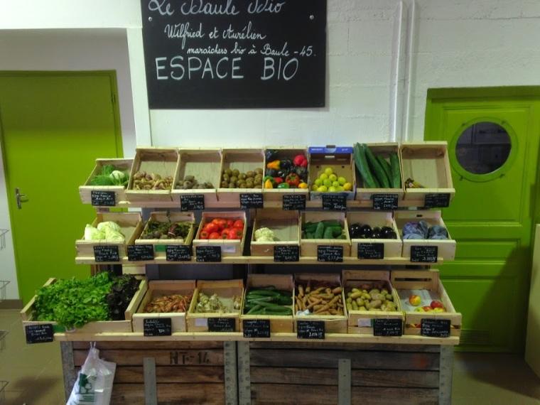 produits locaux : les légumes bio de Baule Bio. Pommes, poires et produits du terroir du Val de Loire